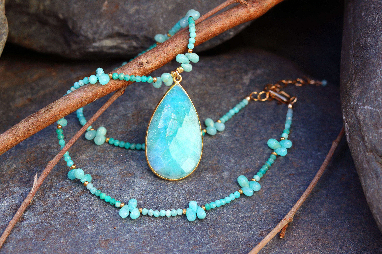 Amazonite Tiny Drops Necklace